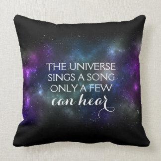 El universo canta una canción solamente que cojín decorativo