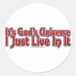 El universo de dios pegatinas redondas