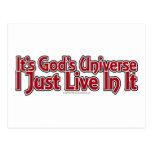 El universo de dios tarjetas postales