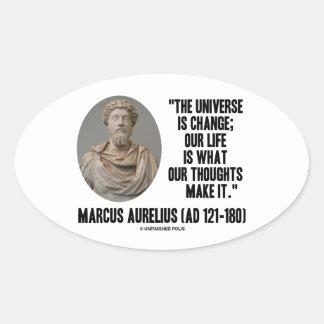 El universo de Marco Aurelius es cita de los Pegatina Ovalada