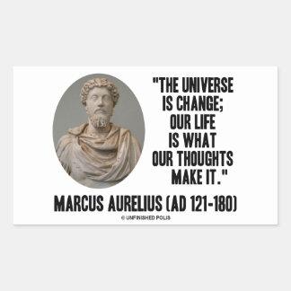 El universo de Marco Aurelius es cita de los Pegatina Rectangular