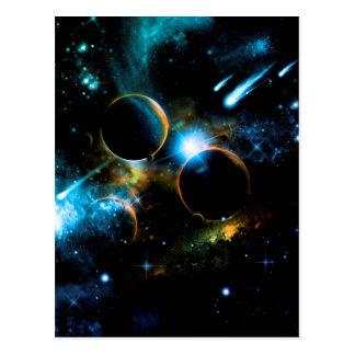 El universo de planetas postal