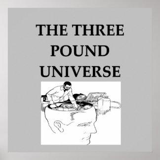 el universo de tres libras póster