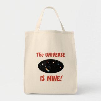 El universo es el mío bolsa tela para la compra