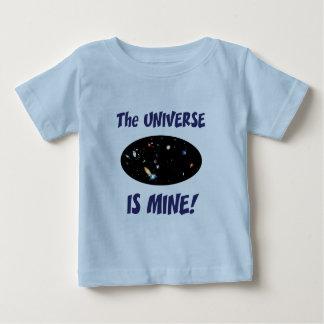 El universo es el mío playera de bebé
