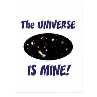 El universo es el mío tarjeta postal