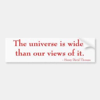 El universo es más ancho que nuestras opiniones de pegatina para auto