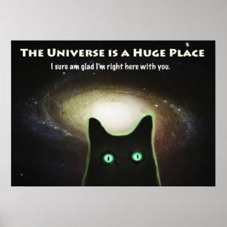El universo es un gato enorme del ~ del lugar en póster