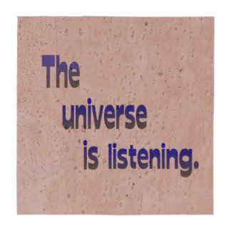 El universo está escuchando - fondo azul posavasos