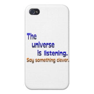 El universo está escuchando - sea listo iPhone 4/4S funda