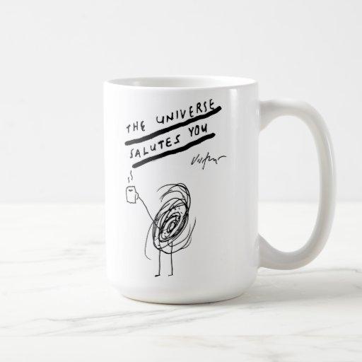 El universo le saluda - taza de café de Victore