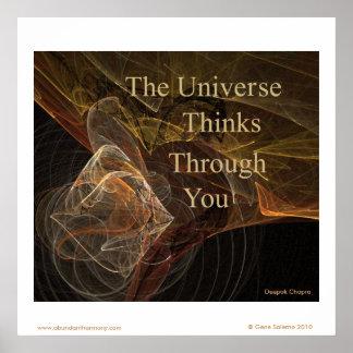 El universo piensa a través de usted póster