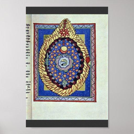 El universo por el Hildegardis-Códice del DES de M Poster