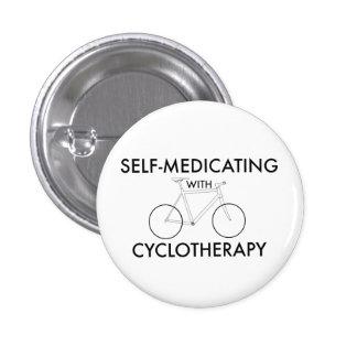 el Uno mismo-medicar con cyclotherapy Pin Redondo De 1 Pulgada