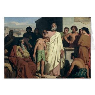 El untar de David de Saul 1842 Tarjetón