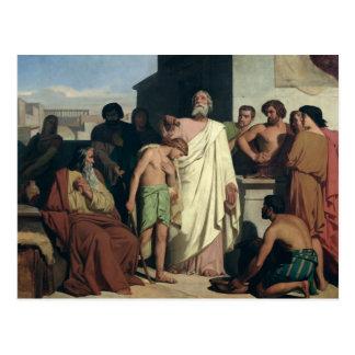 El untar de David de Saul 1842 Postales