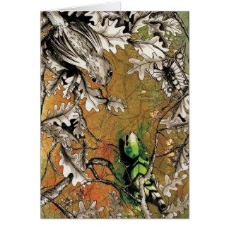 El usignuolo y el lagarto tarjeta de felicitación
