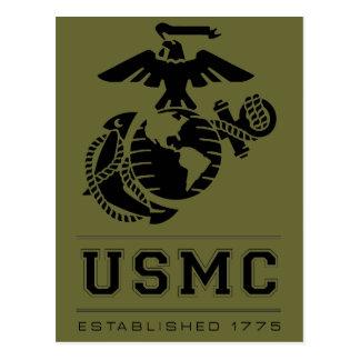 El USMC estableció 1775 Tarjeta Postal