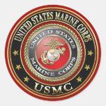El USMC simboliza [la edición especial] [3D] Pegatinas Redondas