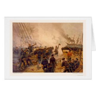 El USS Kearsarge hunde el CSS Alabama en 1864 Tarjeta De Felicitación