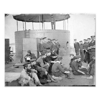 El USS Monitor el 9 de julio de 1862 Foto