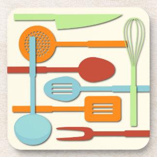 El utensilio de la cocina siluetea ORBLC III Posavaso