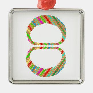 el V-line del collar de 8 ocho brazaletes de las Adorno Cuadrado Plateado