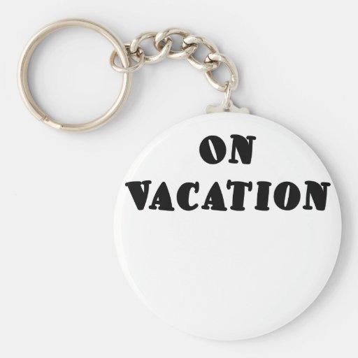 El vacaciones llavero redondo tipo pin