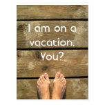 El vacaciones tarjeta postal