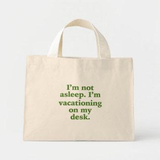 El Vacationing en mi escritorio Bolsa Tela Pequeña