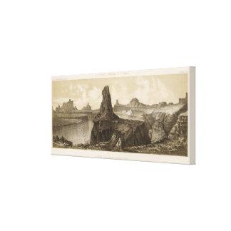 El Vado de Los Padres, el río Colorado Impresión En Lona Estirada