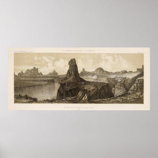 El Vado de Los Padres, el río Colorado Póster