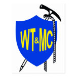 El vagabundear de Wellington y logotipo del club d Postales