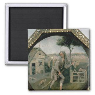 El vagabundo/el hijo despilfarrador, c.1510 imán cuadrado