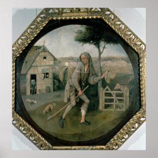 El vagabundo/el hijo despilfarrador, c.1510 póster
