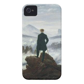 El vagabundo sobre el mar de la caja de la niebla iPhone 4 Case-Mate fundas