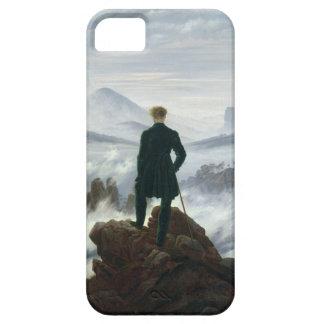 El vagabundo sobre el mar de la caja de la niebla iPhone 5 funda