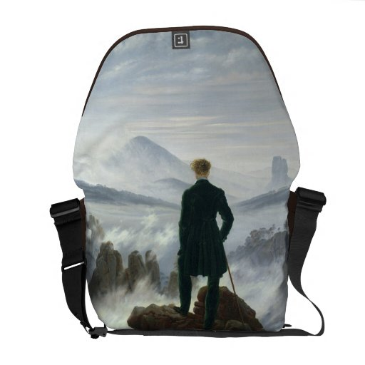 El vagabundo sobre el mar de la niebla, 1818 bolsa messenger
