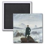 El vagabundo sobre el mar de la niebla, 1818 iman de frigorífico