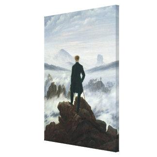 El vagabundo sobre el mar de la niebla, 1818 impresión en lona