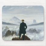 El vagabundo sobre el mar de la niebla, 1818 mouse pads