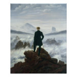 El vagabundo sobre el mar de la niebla, 1818 posters