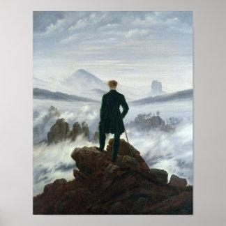 El vagabundo sobre el mar de la niebla 1818 poster
