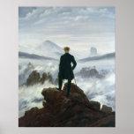 El vagabundo sobre el mar de la niebla, 1818 póster