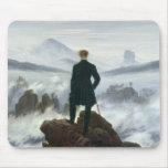 El vagabundo sobre el mar de la niebla, 1818 tapete de ratones