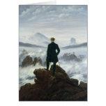 El vagabundo sobre el mar de la niebla, 1818 tarjeta de felicitación