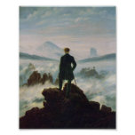El vagabundo sobre el mar de la niebla impresiones