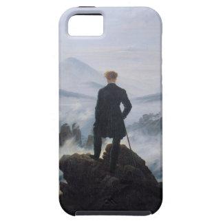 El vagabundo sobre el mar de la niebla iPhone 5 carcasa
