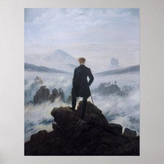 El vagabundo sobre el mar de la niebla póster