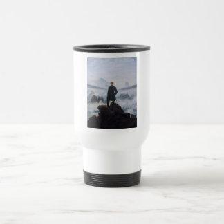 El vagabundo sobre el mar de la niebla tazas de café